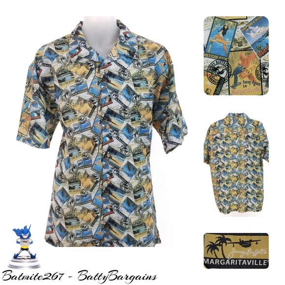 310043e1 Margaritaville Shirts | Lg Wastin Away In Hawaiian Shirt | Poshmark